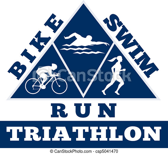 triathlon swim bike run race - csp5041470