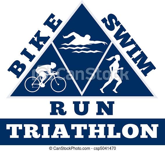 triathlon swim bike run race - csp5041470