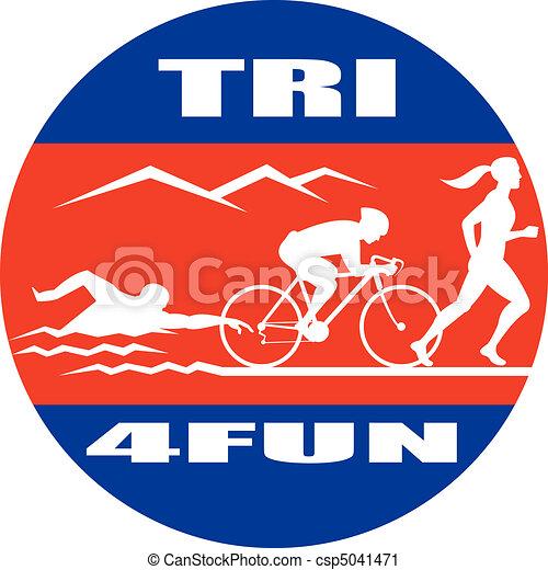 Triathlon, 水泳, 自転車, 操業, ... - Triathlon, 水泳, 自転車