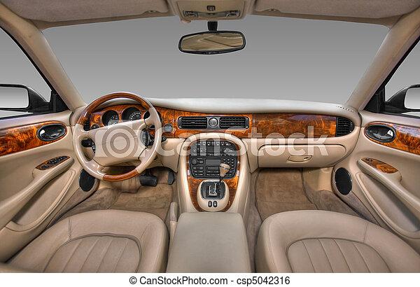 intérieur,  Automobile, moderne, vue - csp5042316