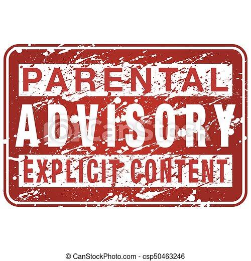Parental Advisory Label Sign - csp50463246