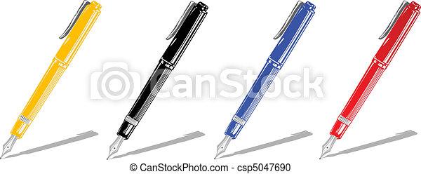 Vector illustration color handles  - csp5047690