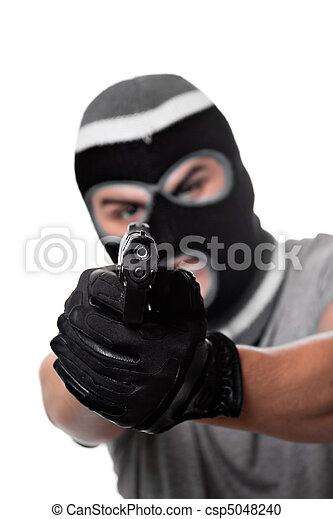 Armed Criminal With a Gun - csp5048240