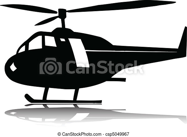 helicopter one vector silhouettes - csp5049967