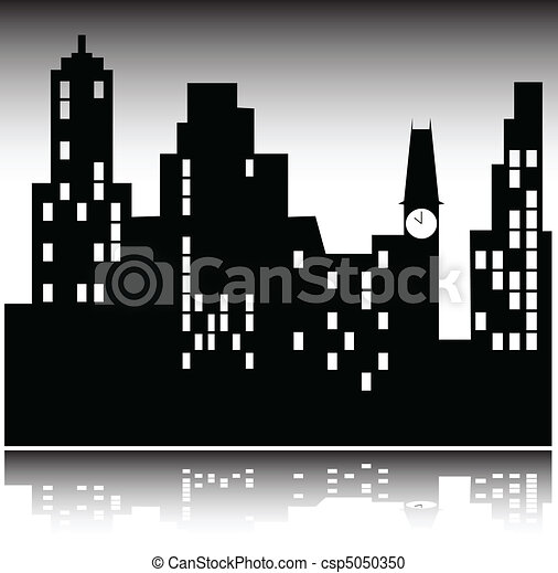 illustration of city - csp5050350