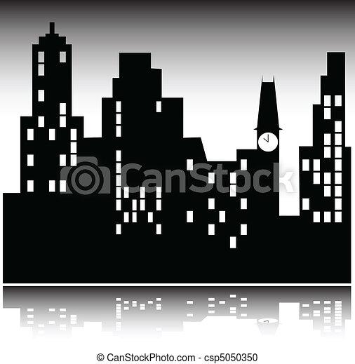 illustration of city - csp5050350