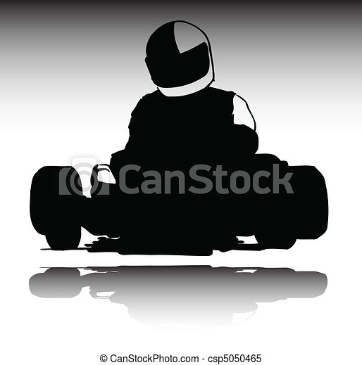 karting sport vector silhouettes - csp5050465