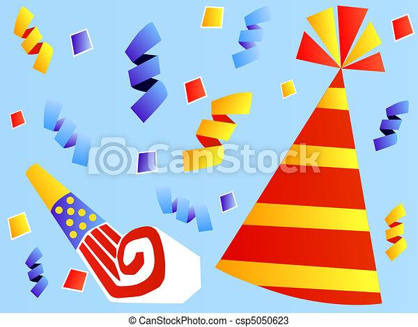 Colorful Party Hat Colorful Party Hat And Party