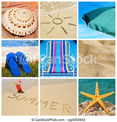 summer collage - csp5050643