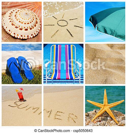summer collage - csp5050643