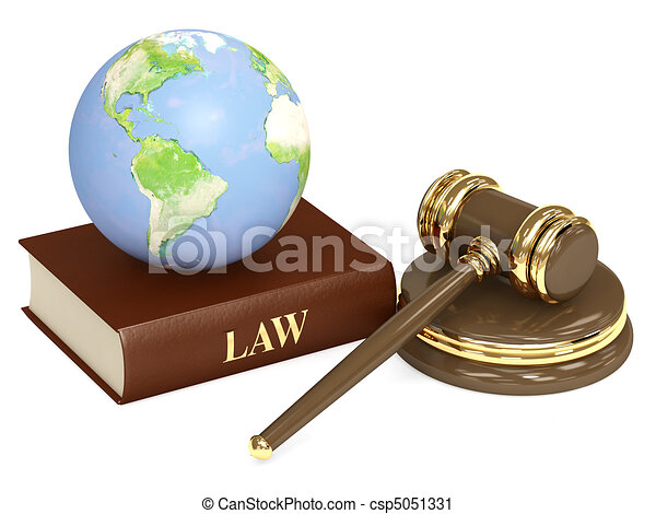 Judicial 3d gavel and Earth - csp5051331