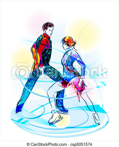 Pair figure skating. Ice show - csp5051574