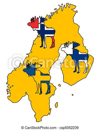 Scandinavian moose - csp5052239