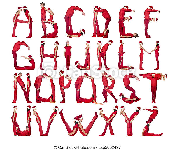 The Alphabet formed by humans. - csp5052497