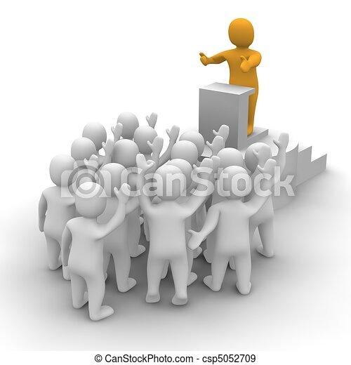 Stock de Ilustraciones - líder, Oratoria, audiencia, 3D ...