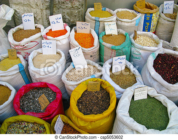 Several spices on market Jordan - csp5053602