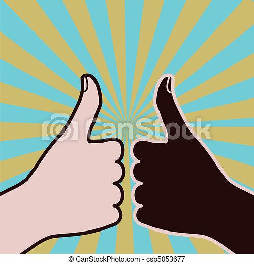 Diversity thumbs-up - csp5053677