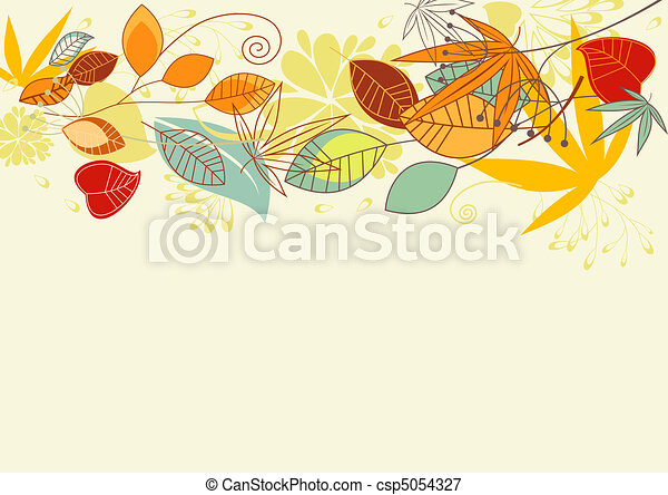 Autumn leaves background - csp5054327
