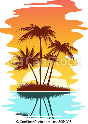 Tropical abstract background - csp5054328