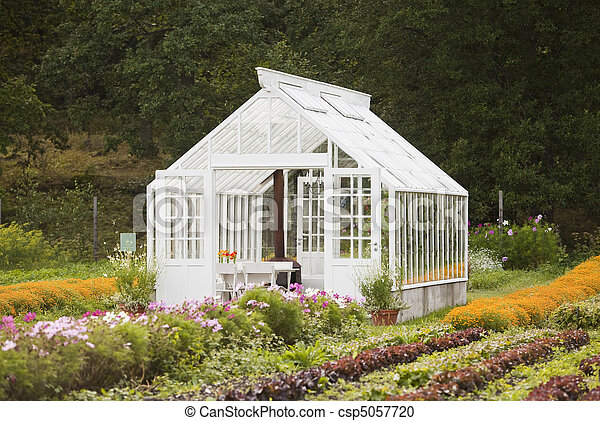Nice greenhouse - csp5057720