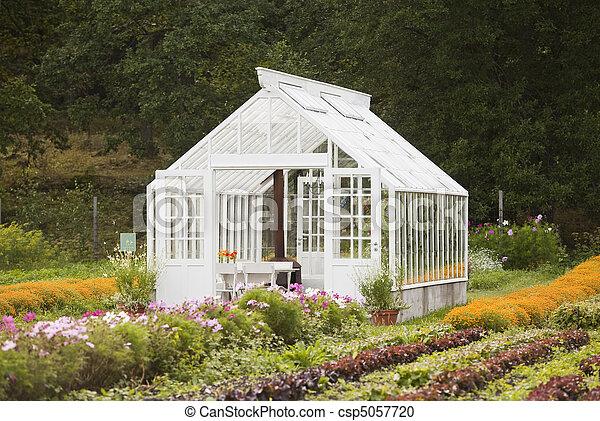 Nice greenhouse - csp5057720