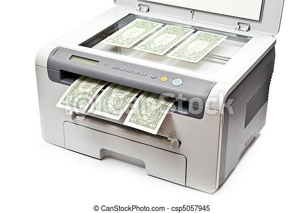 Printer and money - csp5057945