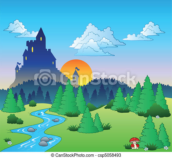 Fairy tale landscape 1 - csp5058493