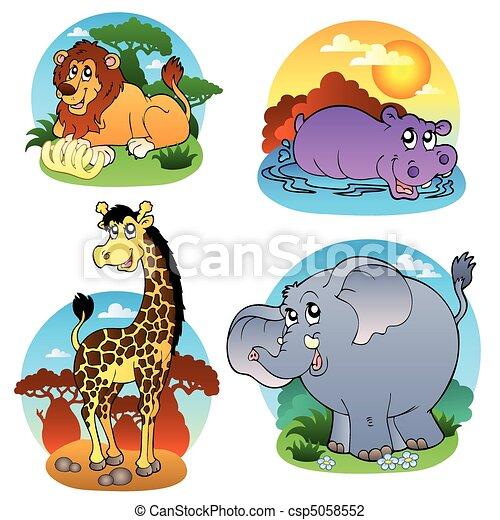 Various tropical animals 1 - csp5058552