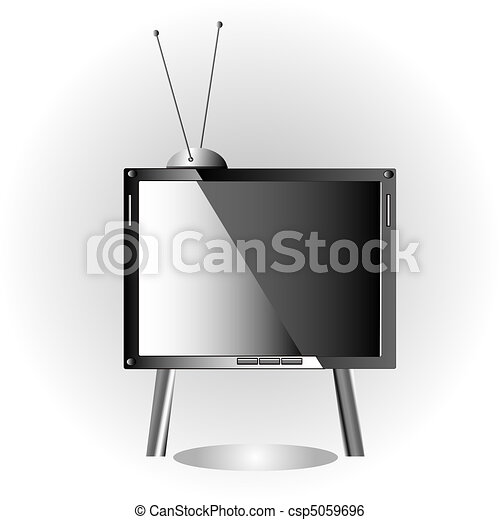 Television set with antenna - csp5059696