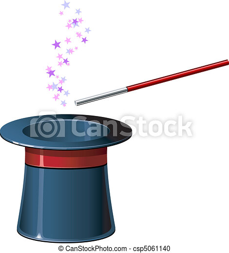 Top hat with wand - csp5061140
