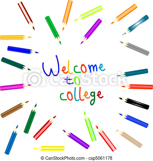 anouncement to welcome to college - csp5061178