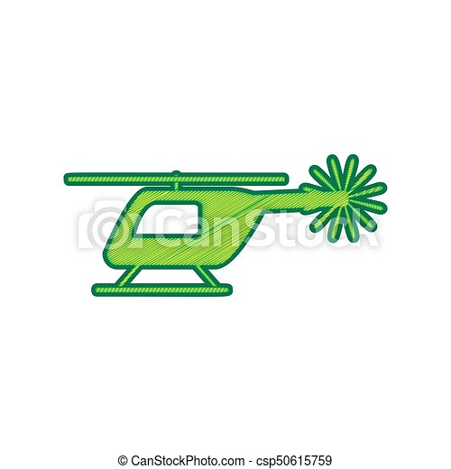 Helicopter sign illustration. Vector. Lemon scribble icon on white background. Isolated - csp50615759