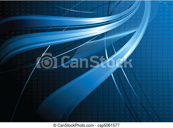 Blue wavy abstraction - csp5061577