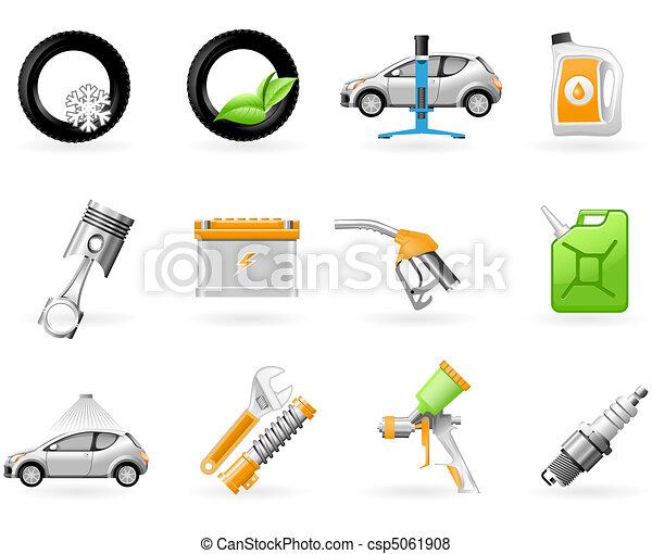 Car service and Repairing icon set - csp5061908