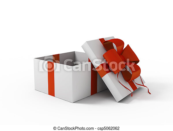 Open white gift box - csp5062062