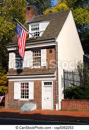 Historic Betsy Ross House in Philadephia, Pennsylvania - csp5062253