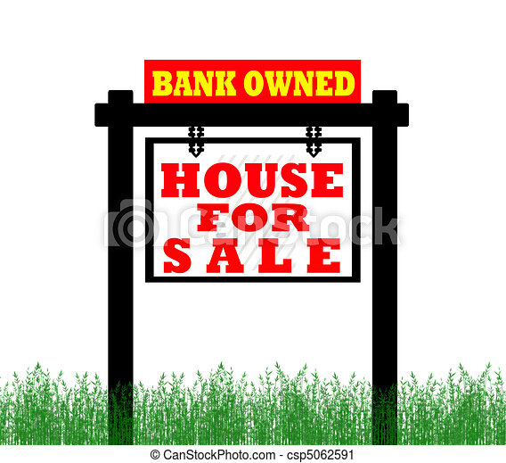 Real Estate home for sale sign - csp5062591