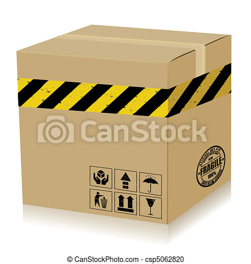 Handle With Care Box (danger). Vector - csp5062820