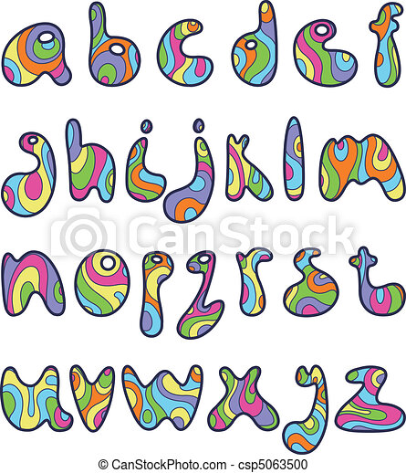 Psychedelic small letters - csp5063500