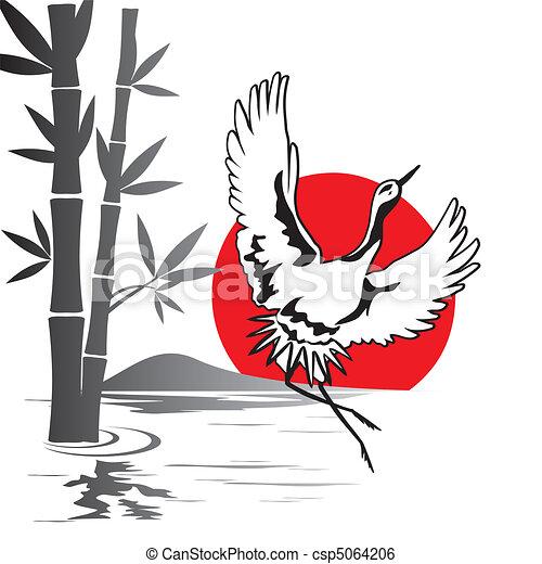 japanese crane - csp5064206