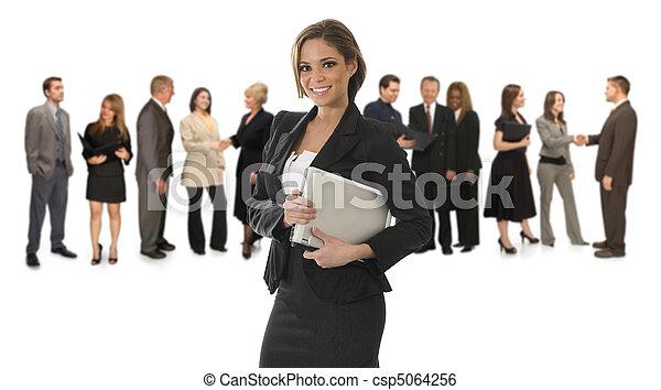Professional Woman on White - csp5064256