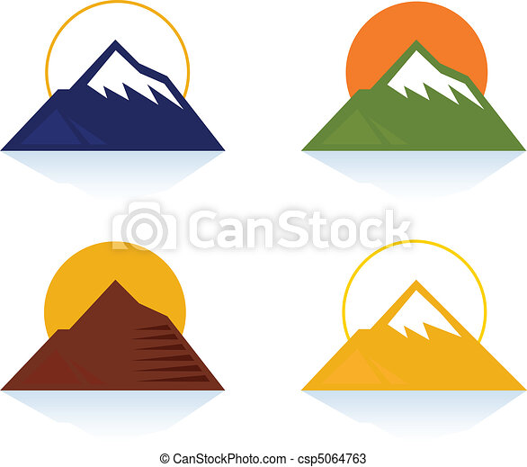 Mountain and tourist icons - csp5064763