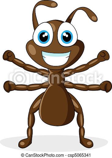 cute little brown ant  - csp5065341