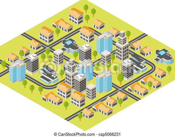 Isometric city - csp5066231
