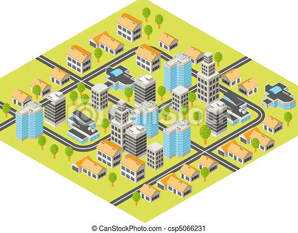 Isometric city - csp5066231