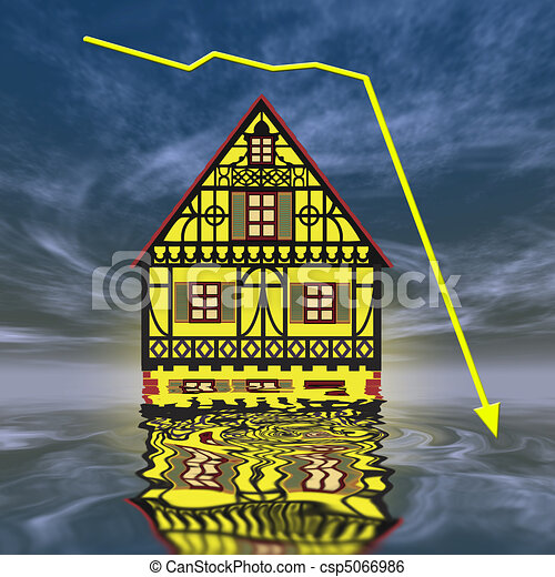 Crash of real estate market - csp5066986