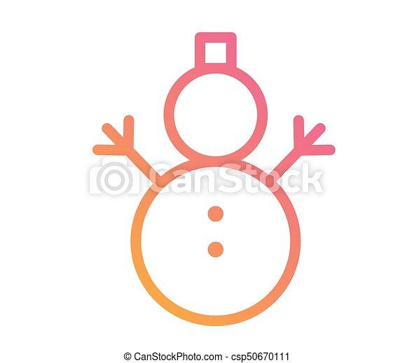 sneeuwpop, gouden, vector, schitteren, kerstmis, sjaal, pictogram - csp50670111