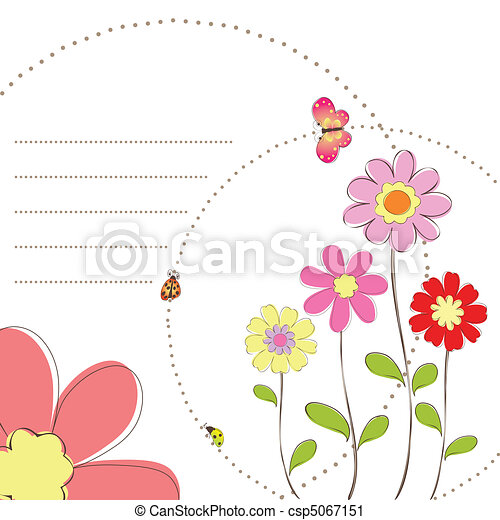 Springtime floral butterfly - csp5067151