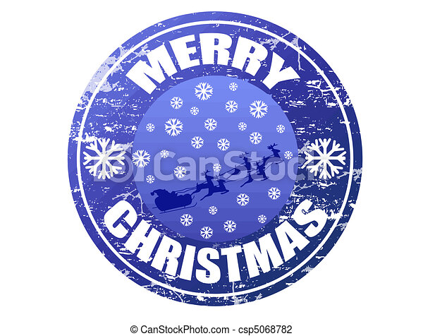 Merry Christmas stamp - csp5068782