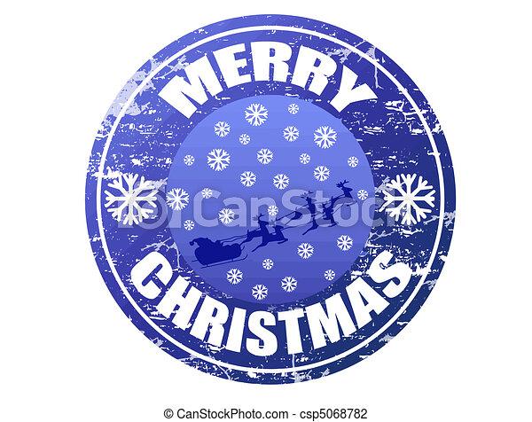 Merry Christmas stamp - csp5068782